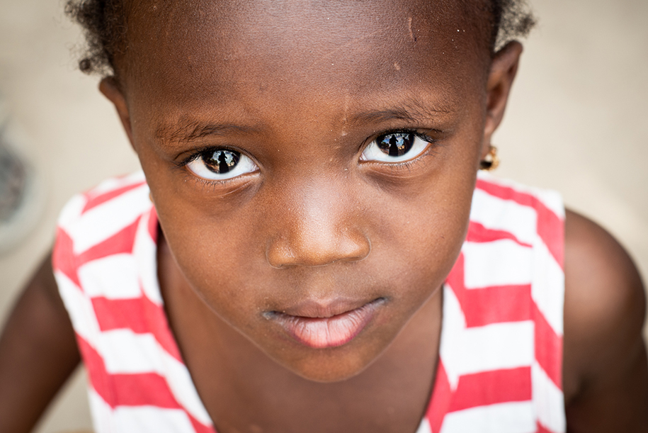Eyes of a girl from the Gambia
