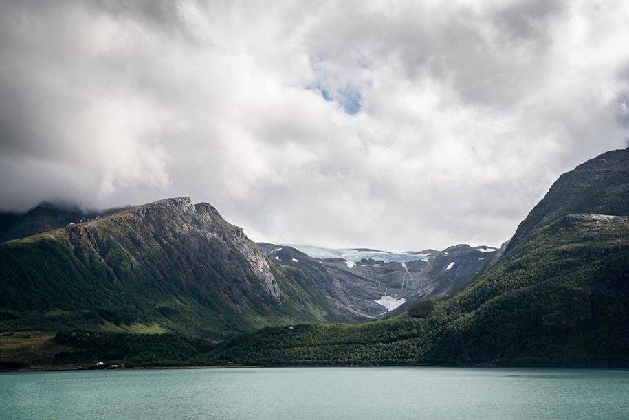 Glacier in Nordtun, Nord-Norway