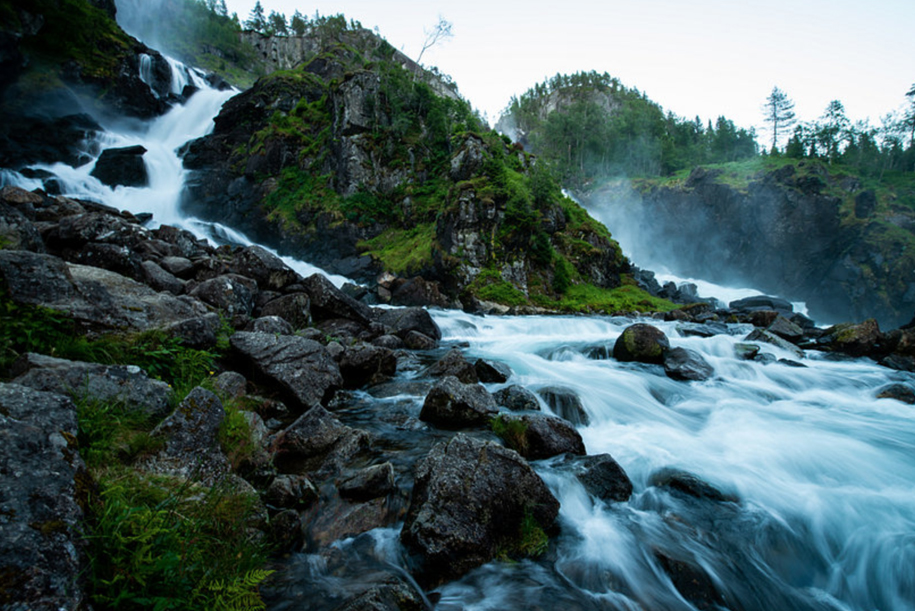 Latefoss waterfall, Norway