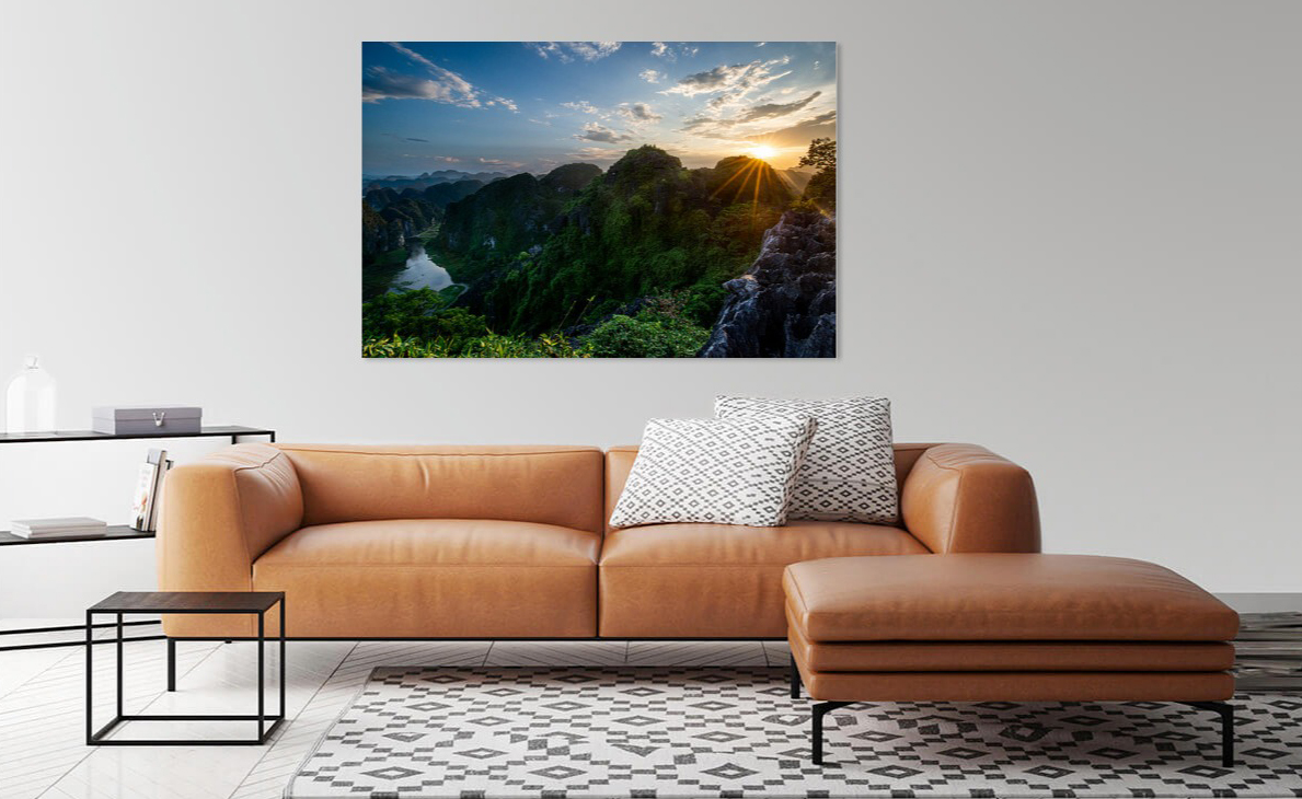 Nature photography print of Ellis Peeters on a wall