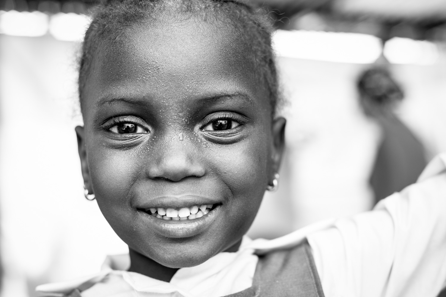 Portrait of a girl in the Gambia