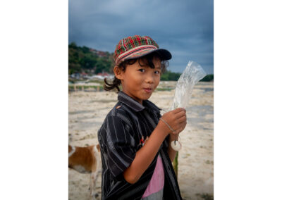 Portrait of a kid in Nusa, Indonesia.
